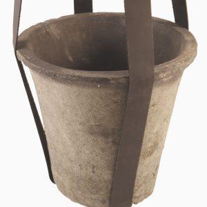 leren hanger en pot