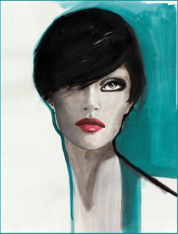 portrait blue
